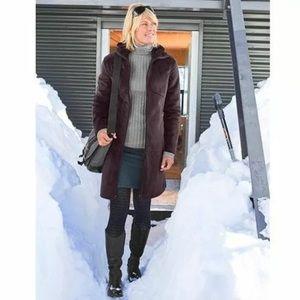 Athleta minka coat xs wine plum maroon soft plush